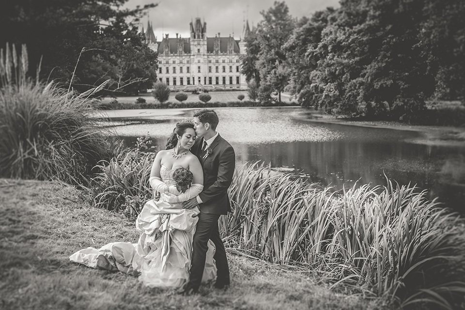 Wedding elopement french chateau Challain