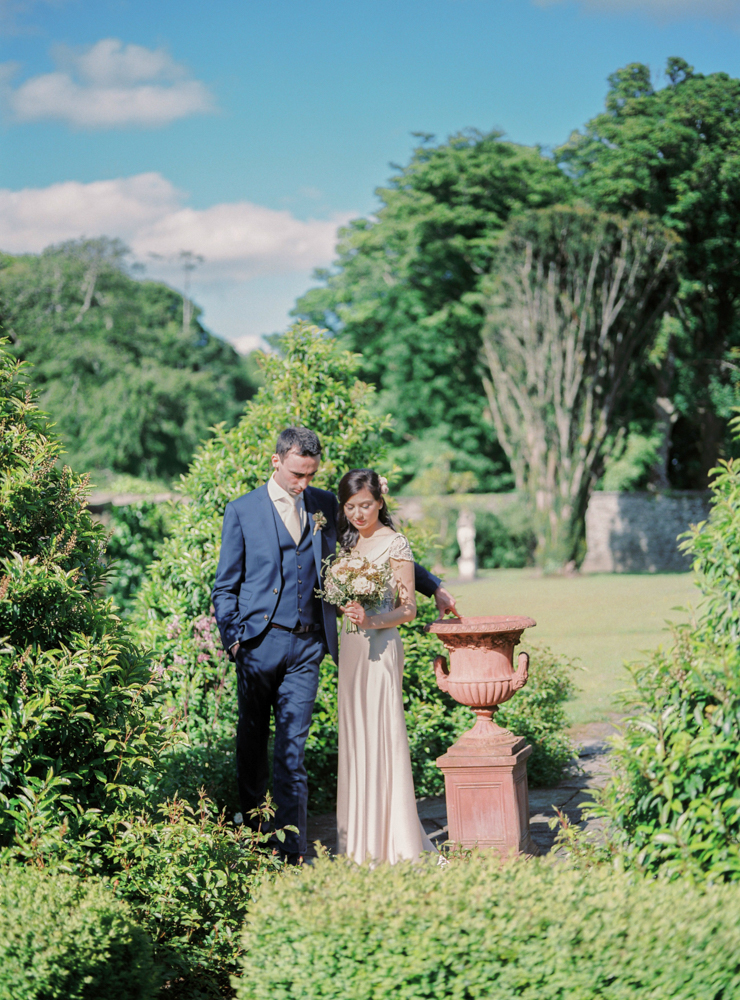 Couple in the garden of Tankardstown House